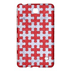Puzzle1 White Marble & Red Colored Pencil Samsung Galaxy Tab 4 (8 ) Hardshell Case  by trendistuff