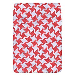 Houndstooth2 White Marble & Red Colored Pencil Flap Covers (s)  by trendistuff