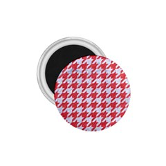 Houndstooth1 White Marble & Red Colored Pencil 1 75  Magnets by trendistuff