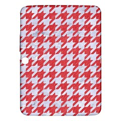 Houndstooth1 White Marble & Red Colored Pencil Samsung Galaxy Tab 3 (10 1 ) P5200 Hardshell Case  by trendistuff