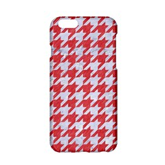 Houndstooth1 White Marble & Red Colored Pencil Apple Iphone 6/6s Hardshell Case by trendistuff
