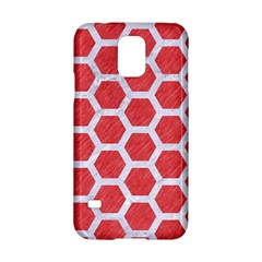 Hexagon2 White Marble & Red Colored Pencil Samsung Galaxy S5 Hardshell Case  by trendistuff