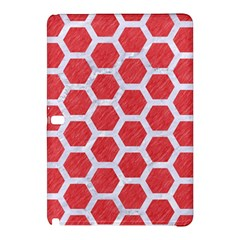 Hexagon2 White Marble & Red Colored Pencil Samsung Galaxy Tab Pro 12 2 Hardshell Case by trendistuff