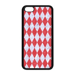 Diamond1 White Marble & Red Colored Pencil Apple Iphone 5c Seamless Case (black) by trendistuff