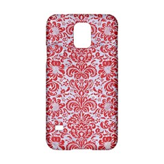 Damask2 White Marble & Red Colored Pencil (r) Samsung Galaxy S5 Hardshell Case  by trendistuff