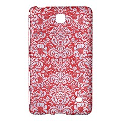 Damask2 White Marble & Red Colored Pencil Samsung Galaxy Tab 4 (7 ) Hardshell Case  by trendistuff
