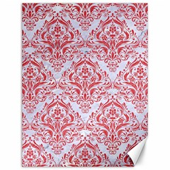 Damask1 White Marble & Red Colored Pencil (r) Canvas 12  X 16   by trendistuff