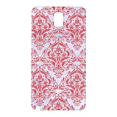 Damask1 White Marble & Red Colored Pencil (r) Samsung Galaxy Note 3 N9005 Hardshell Back Case