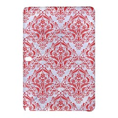 Damask1 White Marble & Red Colored Pencil (r) Samsung Galaxy Tab Pro 12 2 Hardshell Case by trendistuff