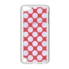 Circles2 White Marble & Red Colored Pencil Apple Ipod Touch 5 Case (white) by trendistuff