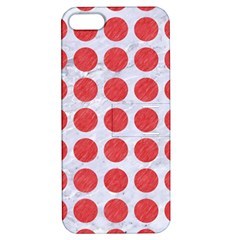 Circles1 White Marble & Red Colored Pencil (r) Apple Iphone 5 Hardshell Case With Stand by trendistuff