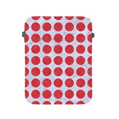 Circles1 White Marble & Red Colored Pencil (r) Apple Ipad 2/3/4 Protective Soft Cases by trendistuff