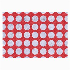 Circles1 White Marble & Red Colored Pencil Large Glasses Cloth by trendistuff