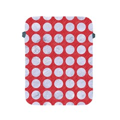 Circles1 White Marble & Red Colored Pencil Apple Ipad 2/3/4 Protective Soft Cases