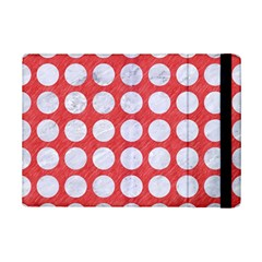 Circles1 White Marble & Red Colored Pencil Ipad Mini 2 Flip Cases by trendistuff