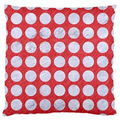 Circles1 White Marble & Red Colored Pencil Standard Flano Cushion Case (two Sides) by trendistuff