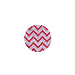 Chevron9 White Marble & Red Colored Pencil (r) 1  Mini Magnets