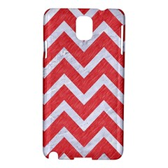 Chevron9 White Marble & Red Colored Pencil Samsung Galaxy Note 3 N9005 Hardshell Case by trendistuff