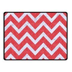 Chevron9 White Marble & Red Colored Pencil Double Sided Fleece Blanket (small)  by trendistuff