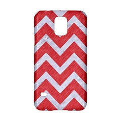 Chevron9 White Marble & Red Colored Pencil Samsung Galaxy S5 Hardshell Case  by trendistuff