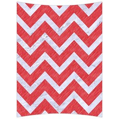Chevron9 White Marble & Red Colored Pencil Back Support Cushion