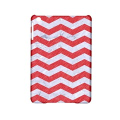 Chevron3 White Marble & Red Colored Pencil Ipad Mini 2 Hardshell Cases by trendistuff