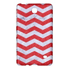 Chevron3 White Marble & Red Colored Pencil Samsung Galaxy Tab 4 (7 ) Hardshell Case  by trendistuff