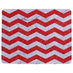 Chevron3 White Marble & Red Colored Pencil Jigsaw Puzzle Photo Stand (rectangular) by trendistuff