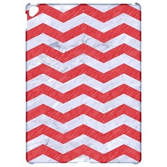 Chevron3 White Marble & Red Colored Pencil Apple Ipad Pro 12 9   Hardshell Case