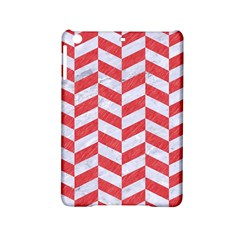 Chevron1 White Marble & Red Colored Pencil Ipad Mini 2 Hardshell Cases by trendistuff