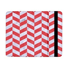Chevron1 White Marble & Red Colored Pencil Samsung Galaxy Tab Pro 8 4  Flip Case by trendistuff