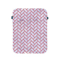 Brick2 White Marble & Red Colored Pencil (r) Apple Ipad 2/3/4 Protective Soft Cases by trendistuff