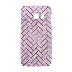 Brick2 White Marble & Red Colored Pencil (r) Galaxy S6 Edge by trendistuff