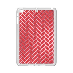 Brick2 White Marble & Red Colored Pencil Ipad Mini 2 Enamel Coated Cases by trendistuff