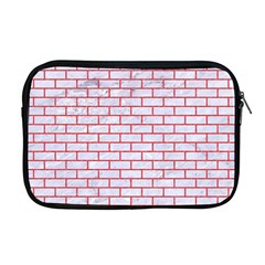 Brick1 White Marble & Red Colored Pencil (r) Apple Macbook Pro 17  Zipper Case by trendistuff