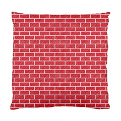 Brick1 White Marble & Red Colored Pencil Standard Cushion Case (one Side) by trendistuff