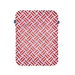 Woven2 White Marble & Red Brushed Metal (r) Apple Ipad 2/3/4 Protective Soft Cases by trendistuff