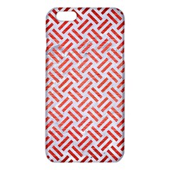 Woven2 White Marble & Red Brushed Metal (r) Iphone 6 Plus/6s Plus Tpu Case by trendistuff