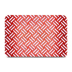 Woven2 White Marble & Red Brushed Metal Plate Mats by trendistuff