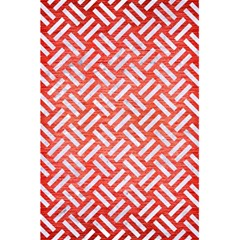 Woven2 White Marble & Red Brushed Metal 5 5  X 8 5  Notebooks by trendistuff
