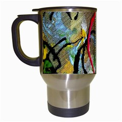 Rumba On A Chad Lake 13 Travel Mugs (white) by bestdesignintheworld