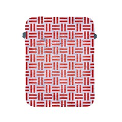 Woven1 White Marble & Red Brushed Metal (r) Apple Ipad 2/3/4 Protective Soft Cases