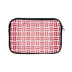 Woven1 White Marble & Red Brushed Metal (r) Apple Ipad Mini Zipper Cases by trendistuff
