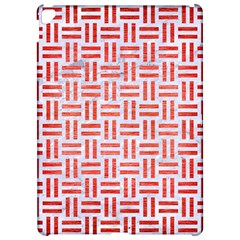 Woven1 White Marble & Red Brushed Metal (r) Apple Ipad Pro 12 9   Hardshell Case