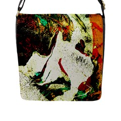 Skull 2 Flap Messenger Bag (l)  by bestdesignintheworld