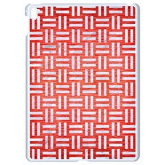 Woven1 White Marble & Red Brushed Metal Apple Ipad Pro 9 7   White Seamless Case by trendistuff