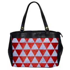 Triangle3 White Marble & Red Brushed Metal Office Handbags by trendistuff