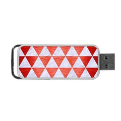 Triangle3 White Marble & Red Brushed Metal Portable Usb Flash (two Sides) by trendistuff