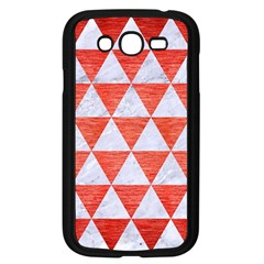Triangle3 White Marble & Red Brushed Metal Samsung Galaxy Grand Duos I9082 Case (black) by trendistuff
