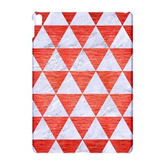 Triangle3 White Marble & Red Brushed Metal Apple Ipad Pro 10 5   Hardshell Case by trendistuff